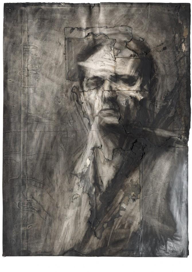 Self-Portrait, Frank Auerbach | Courtesy of Marlborough Fine Art