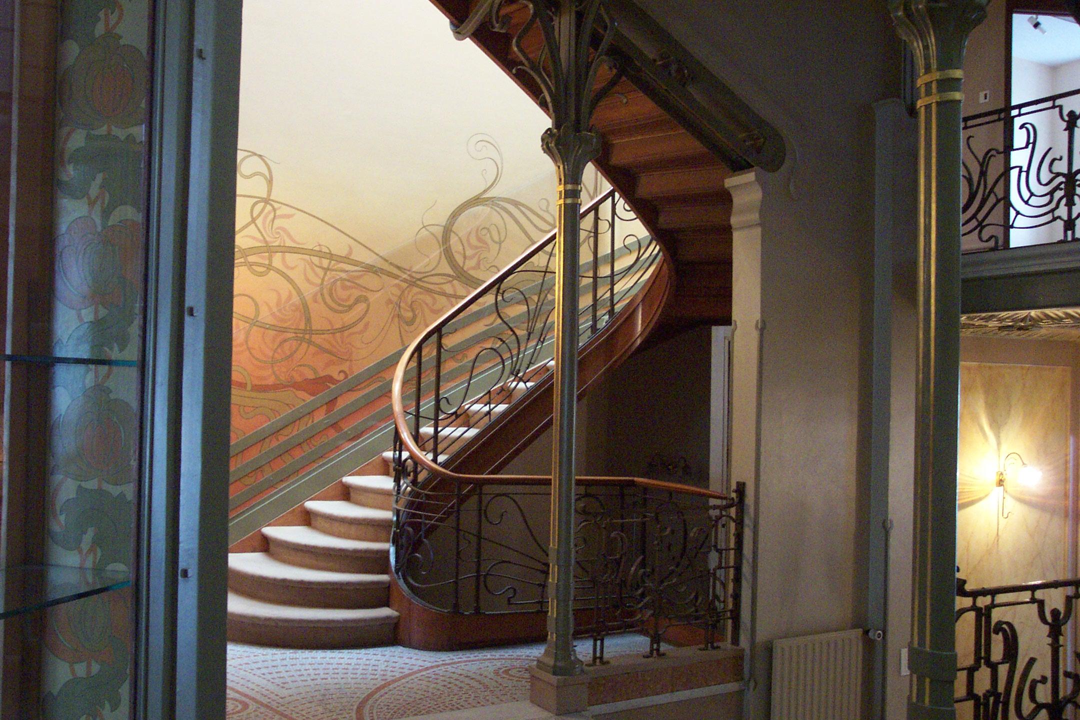 Tassel House Stairway © Henry Townsend/Wikimedia