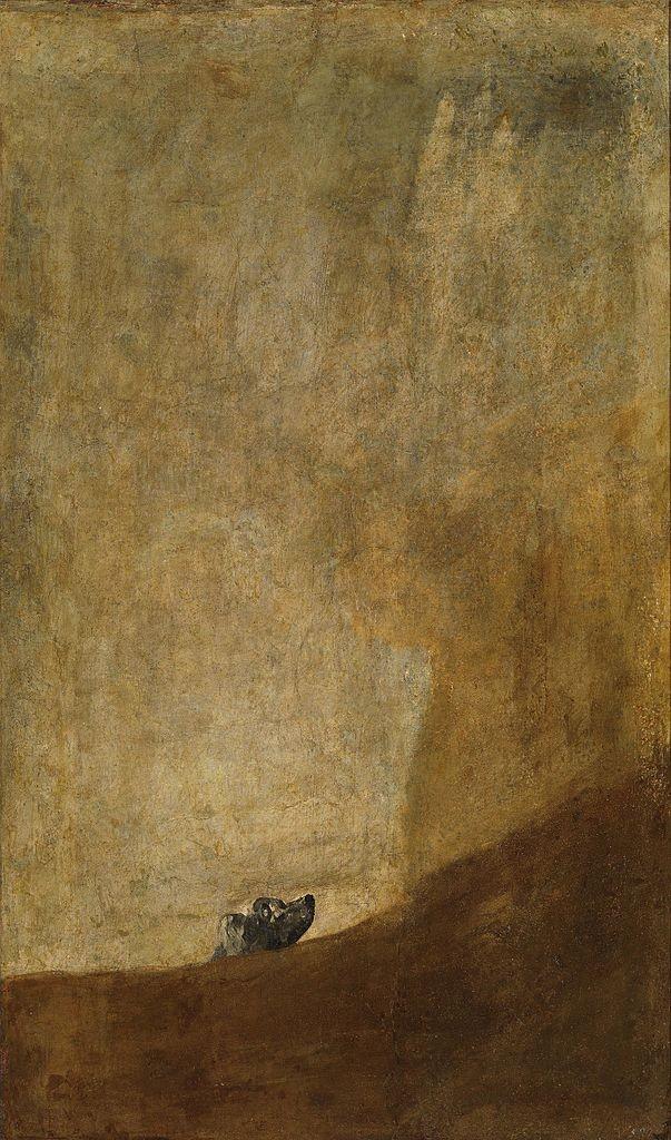 Francisco Goya, The Drowning Dog, 131 x 79 cm, 1820-1823, Museo del Prado | © Alonso de Mendoza/WikiCommons