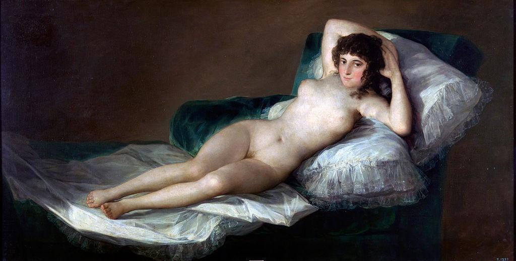 Francisco Goya, The Naked Maja, 98 x 191 cm, before 1800, Museo del Prado | © Darthipedist Obvious/WikiCommons