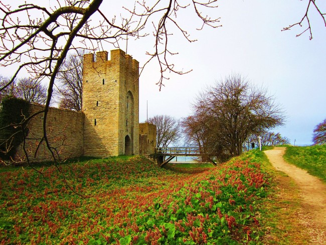 Wall of Visby, Gotland   © Saramg90/Wiki Commons
