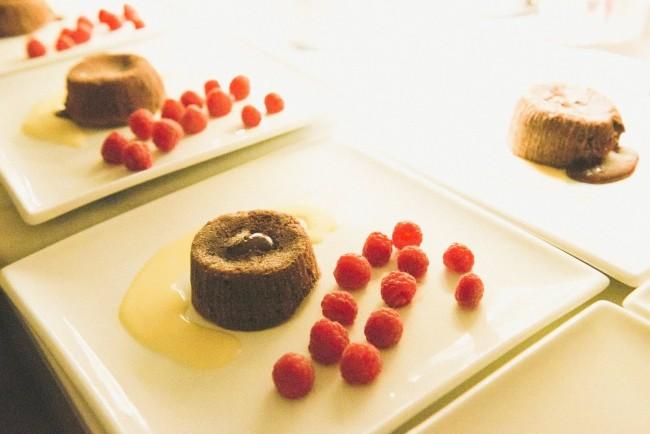 Scrumptious chocolate dessert through Bookalokal |©Louis David Photography