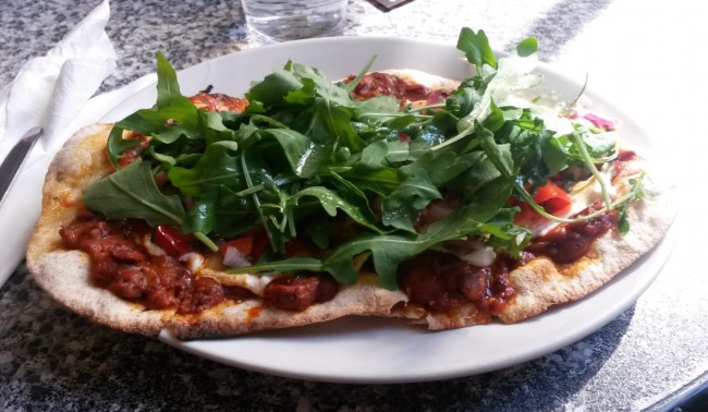 Pizza with Pizzazz at Bath's Chapel Arts Cafe | Courtesy of Bristol Vegetarian