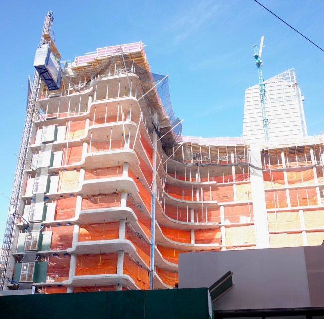 The construction site for 520 west 28th street | © Smart Scott Photography