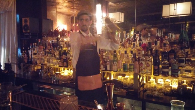 Mixing a cocktail at the Gatsby @Yehudah Jacobs