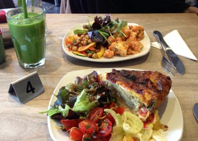 The Metropolitan Cafe lines up super smoothies alongside quiche, salads and panini | Courtesy of Metropolitan Cafe