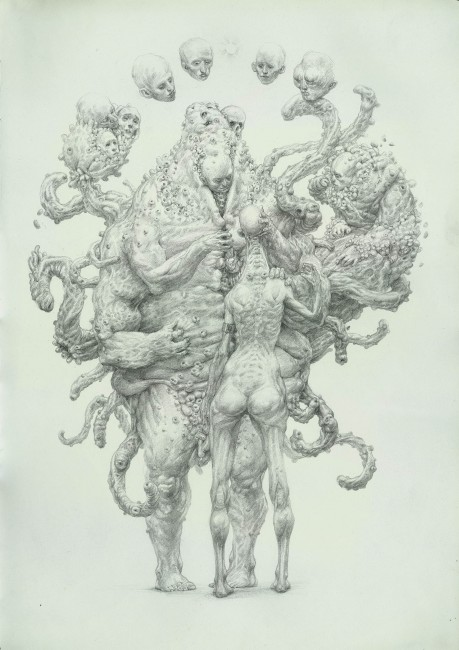 A drawing from the series The Guardians of Men | Courtesy of Enric Sant
