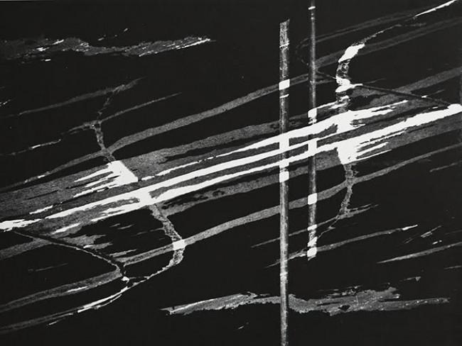 Spuren auf Schwarz | Otto Steinert / © Courtesy Galerie Johannes Faber