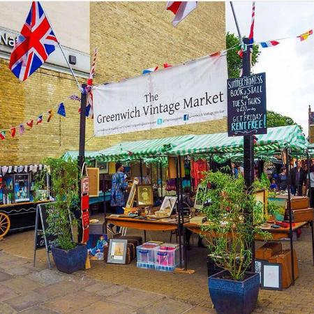 The entrance to Greenwich Vintage Market | courtesy of Greenwich Vintage Market
