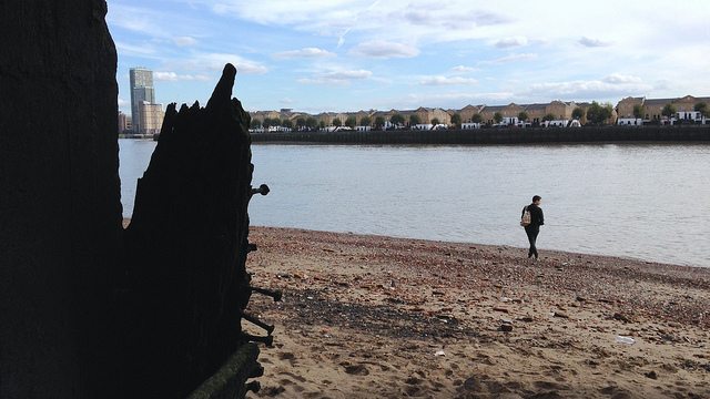 Beach in Wapping | © Silvia Maggi/Flickr