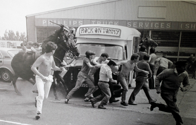 Police violence at 1984 miner's strike © Chris / Flickr