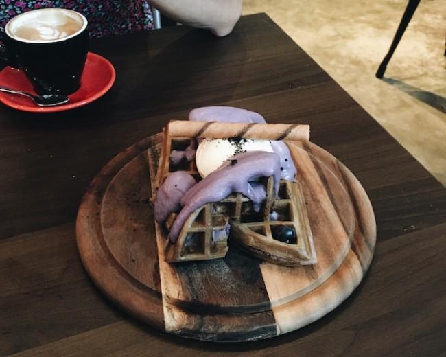 Taro Waffles | Courtesy of Zhu Yong Qing