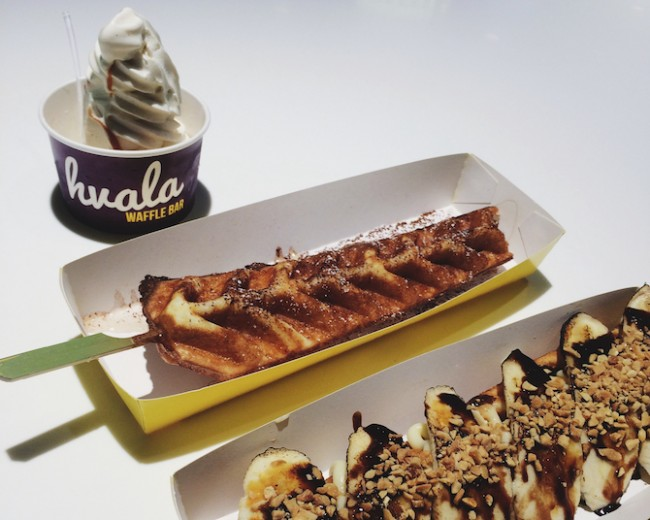 Original Hvala Waffle with Vanilla Soft Serve, Bella Banana | Courtesy of Zhu Yong Qing