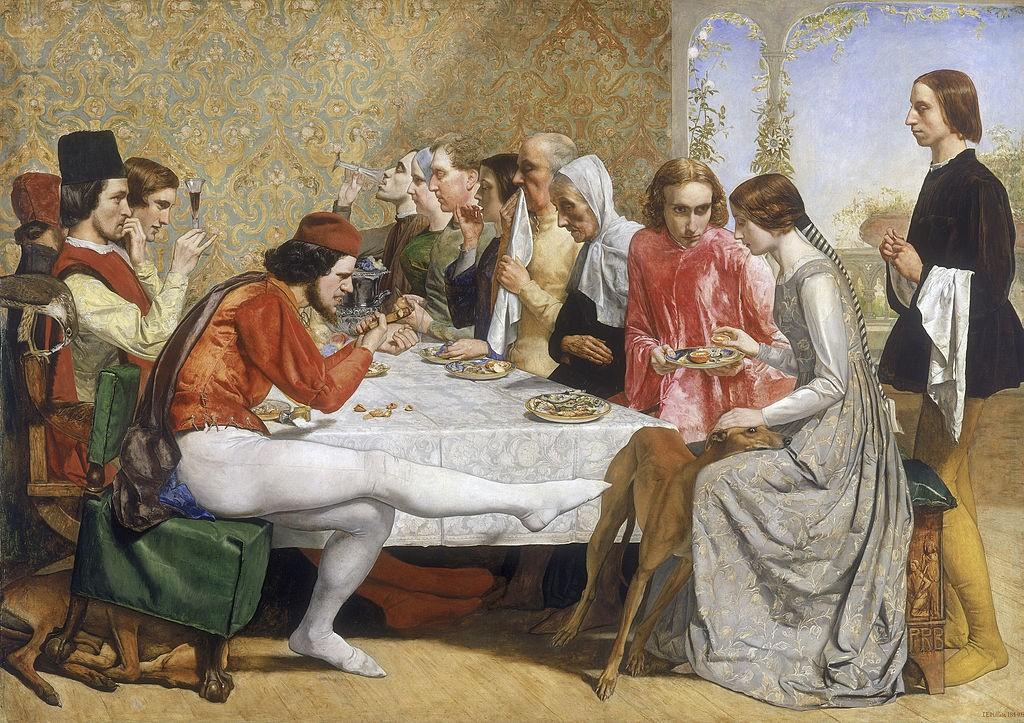 John Everett Millais, Isabella, 1848-1849 | © Walker Art Gallery/WikiCommons