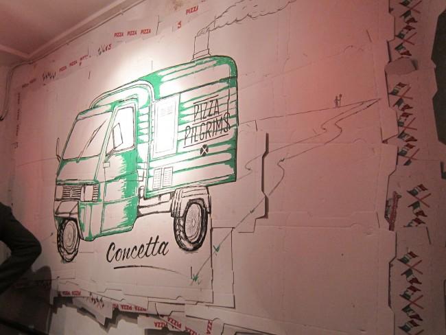 "The Ape Car ""Concetta"" has became the symbol of Pizza Pilgrims | © Bex Walton / Flickr"