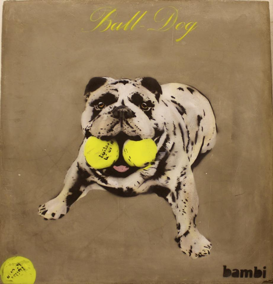 Ball Dog | © Bambi Street Artist/Facebook