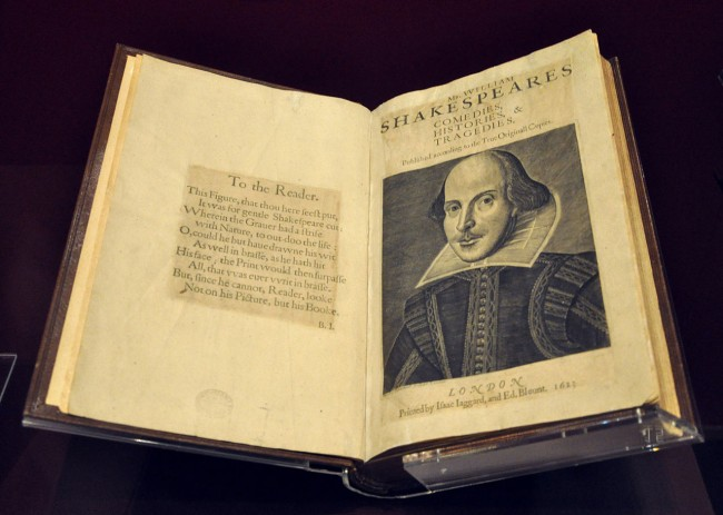 The First Folio | © Andreas Praefcke / WikiCommons