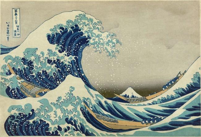 The Great Wave of Kanagawa by Katsushika Hokusai | © Wikicommons