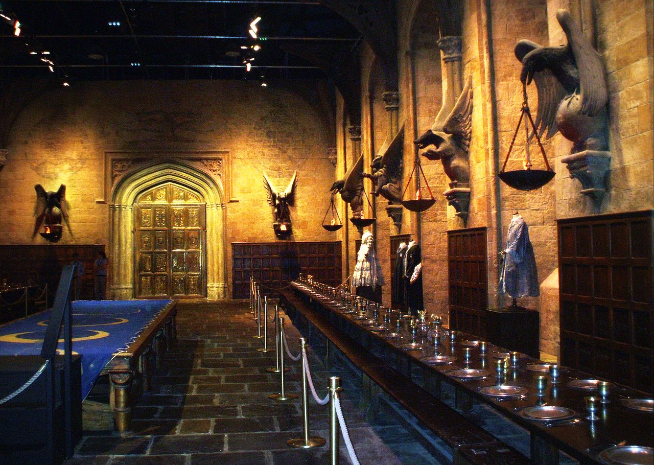 Film set of The Great Hall, Hogwarts at Warner Bros. Studios, Leavesden, UK | © Marek Kosniowski
