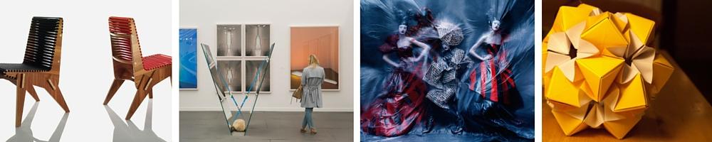 "Pentagram | © Associated Fabrication/Flickr / Frieze New York, Courtesy of Marco Scozzaro/Frieze / ""Dark Angel"" | Nastya Sten, Aya Jones, Yumi Lambert & Harleth Kuusik (in Alexander McQueen from the Autumn-Winter 2009 'Horn of Plenty' collection) by Tim Walker for ""British Vogue"" - February, 2015 | © Ŧhe ₵oincidental Ðandy/Flickr / Origami | © Tom Page/Flickr"