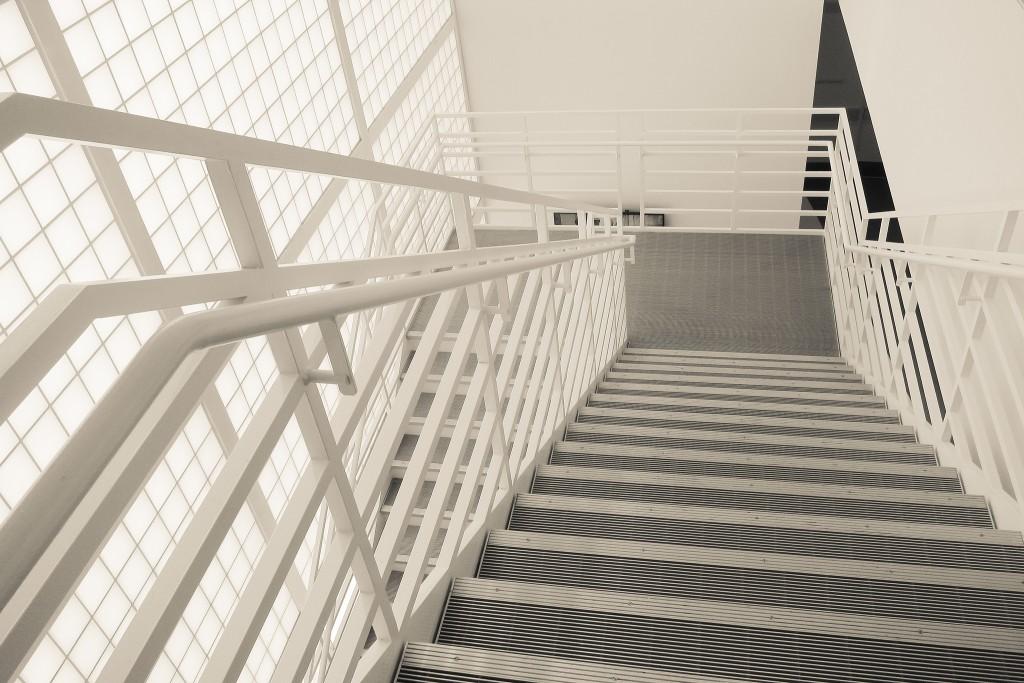Stairs within the Yerba Buena Center © Sharon Mollerus