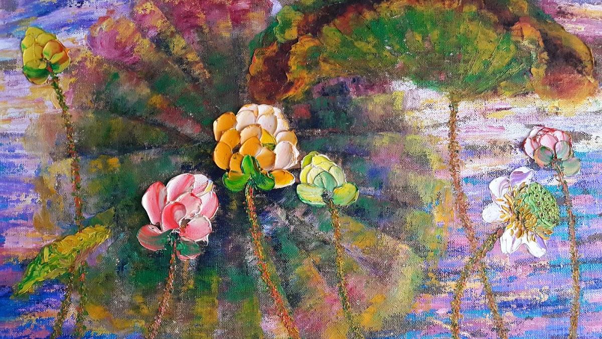 Tuyen vus lotus flower paintings tuyen vu a section of youth 2013 izmirmasajfo