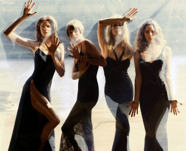 Stephanie Seymour, Linda Evangelista, Claudia Schiffer & Christy Turlington photographed by Steven Meisel | Courtesy of The Coincidental Dandy/Flickr