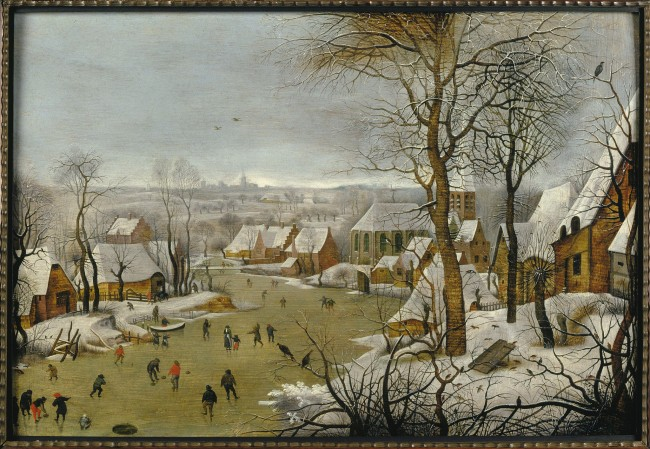 'Winter landscape with a bird trap' by Pieter Breughel II after Breugel the Elder, one of Breugel's famous landscapes depicting the cold weather at the time | © Museum Mayer van den Bergh