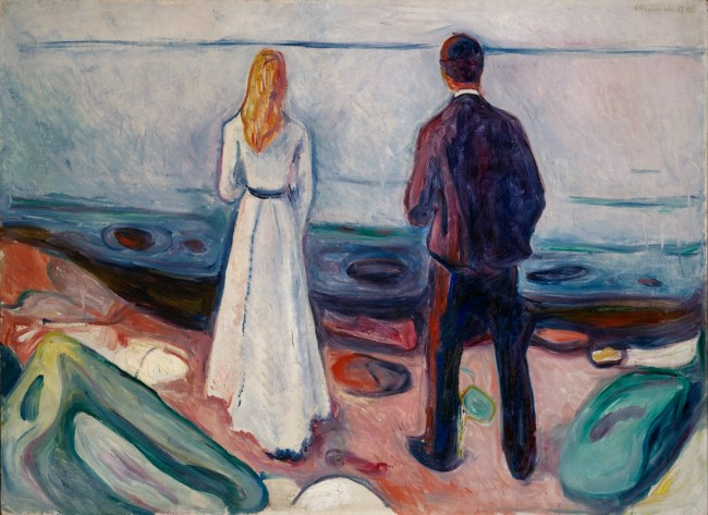 Edvard Munch (1863-1944) Two Human Beings. The Lonely Ones, 1905 Oil on canvas 80 x 100 cm (31 ½ x 39 3/8 in.) Lynn G. Straus © 2016 Artists Rights Society (ARS), New York