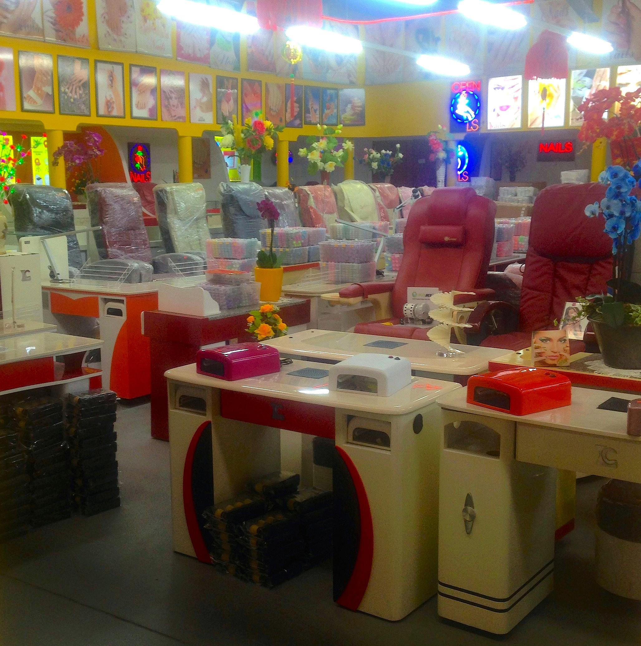 Supplies for a nail salon, Dong Xuan Center