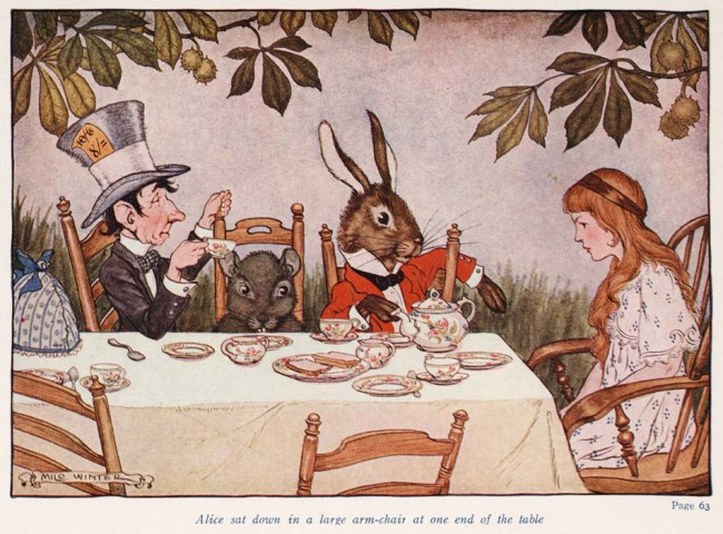 Alice in Wonderland (Illustrator: Winter, 1924) Mad Tea Party   © Special Collections Toronto Public Library / Flickr