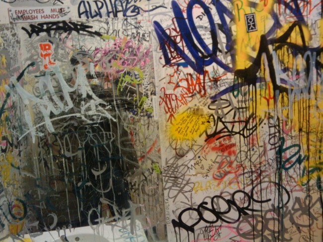 Bathroom Graffiti writing on the wall: a look at nyc's indoor graffiti