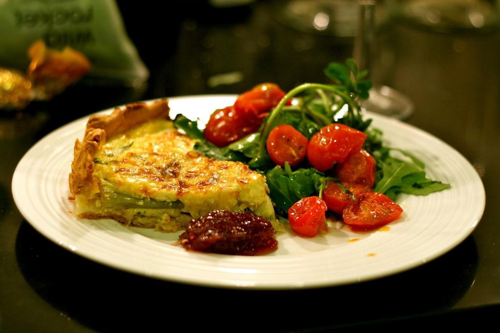 vegetarian tart ©Kirsten Loza