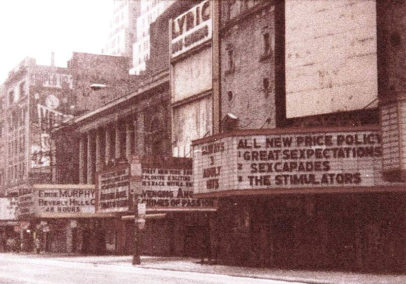 42nd St, NYC, Lyric Theatre, 1985 | © JGKlein/WikiCommons