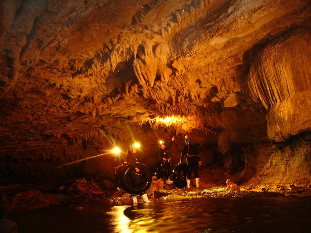inside Waitomo Glowworm Cave ©Madeleine Deaton