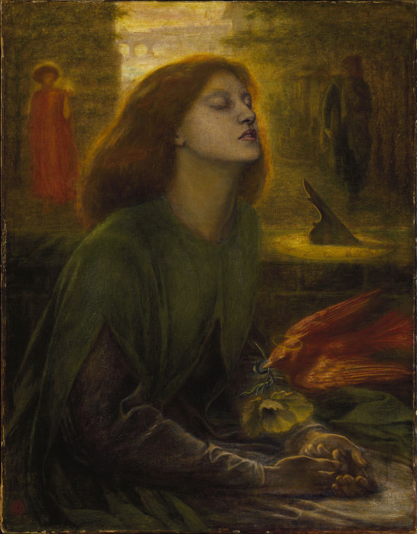 Rossetti, Beata Beatrix, Support: 864 x 660 mm, Frame: 1212 x 1015 x 104 mm, Tate Britain, c. 1864-70 | © Dmitry Rozhkov/WikiCommons