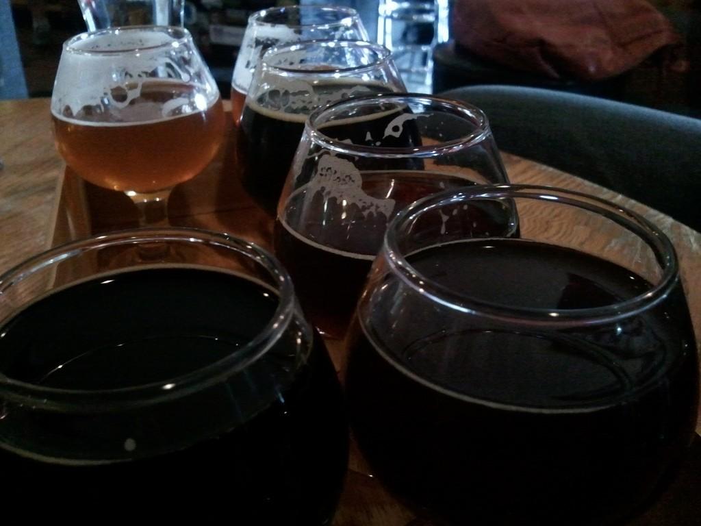 Beer Revolution tasting tray © George Kelly/Flickr