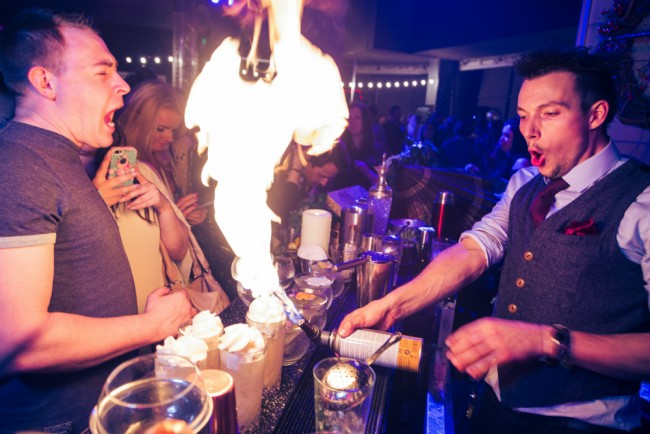 The Bar Is On Fire | Courtesy of Cocktails In The City
