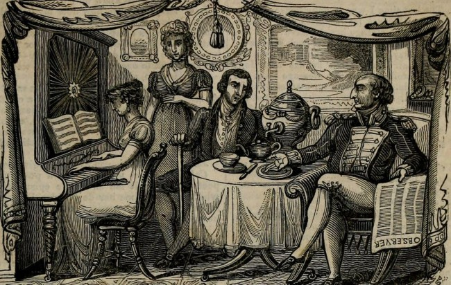 Tea drinking in the nineteenth century © Internet Archive Book Images/Flickr