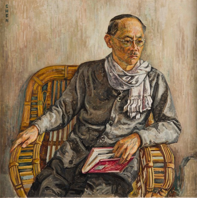 Georgette Chen Portrait of Eugene Chen c. 1940 Oil on canvas 91.3 x 90.8 cm Gift of the Estate of Georgette Chen Liying Collection of National Gallery Singapore | © Image courtesy of National Heritage Board