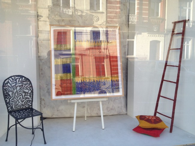 Isabelle de Borchgrave studio window   © Marie van Boxel
