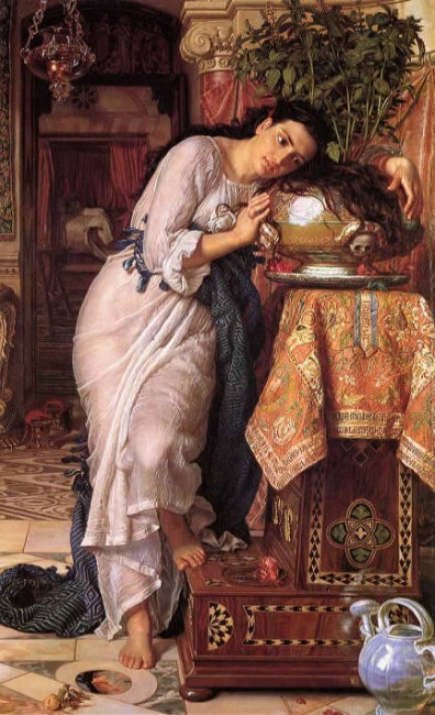 Holman Hunt, Isabella and the Pot of Basil, 187 x 116 cm, Laing Art Gallery, 1867 | © Paul Barlow/WikiCommons