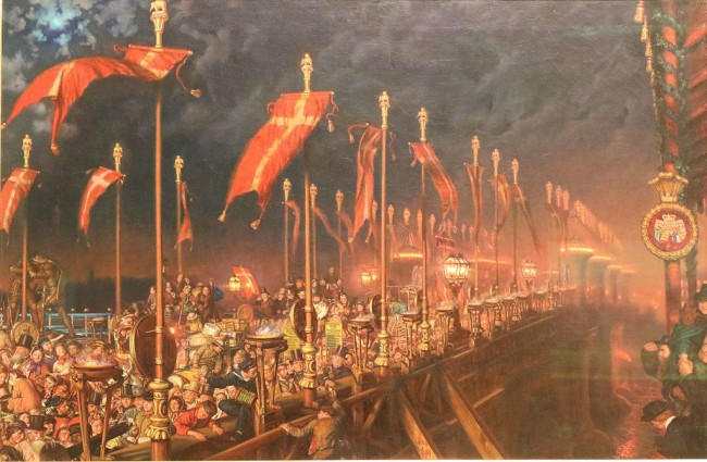 Holman Hunt, London Bridge on the Night of the Marriage of the Prince and Princess of Wales, 65 x 98 cm, Ashmolean Museum, 1864 | © Andrewrabbott/WikiCommons