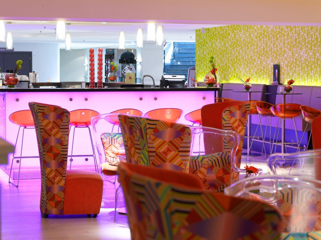 The quirky interior of the lounge bar| Courtesy of Thon Hotel Brussels City Centre, Lounge Bar