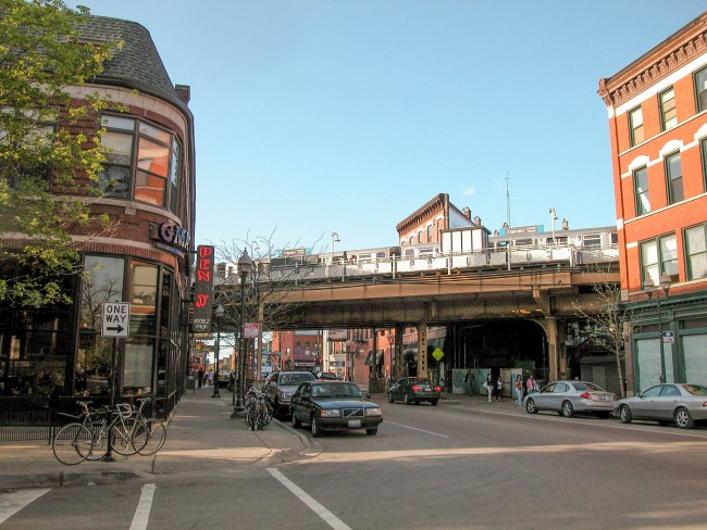 Damen Avenue in Wicker Park | © David Wilson/Flickr