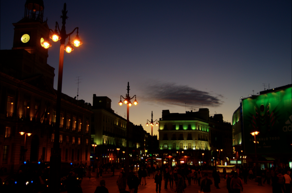 Puerta del Sol at night | © Laura Kauffmann