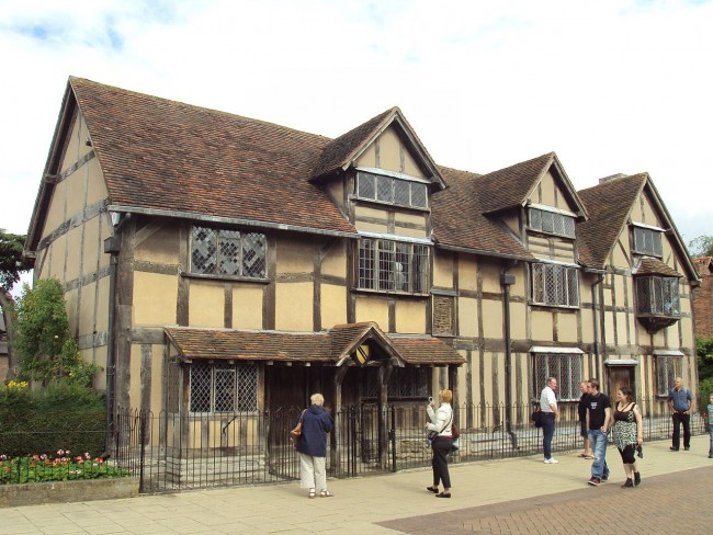 Shakespeare's birthplace in Stratford-Upon-Avon | © Rept0n1x / WikiCommons