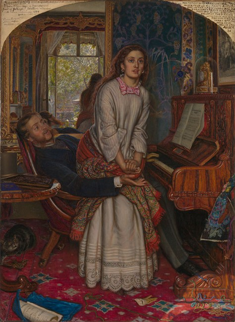 Holman Hunt, The Awakening Conscience, 762 x 559 mm, Tate Britain, 1853 | © DcoetzeeBot/WikiCommons