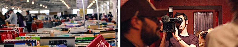 SFPL Book Sale © Jonathan Chen/Flickr / Videographer © shrtstck | icnt.mx/Flickr