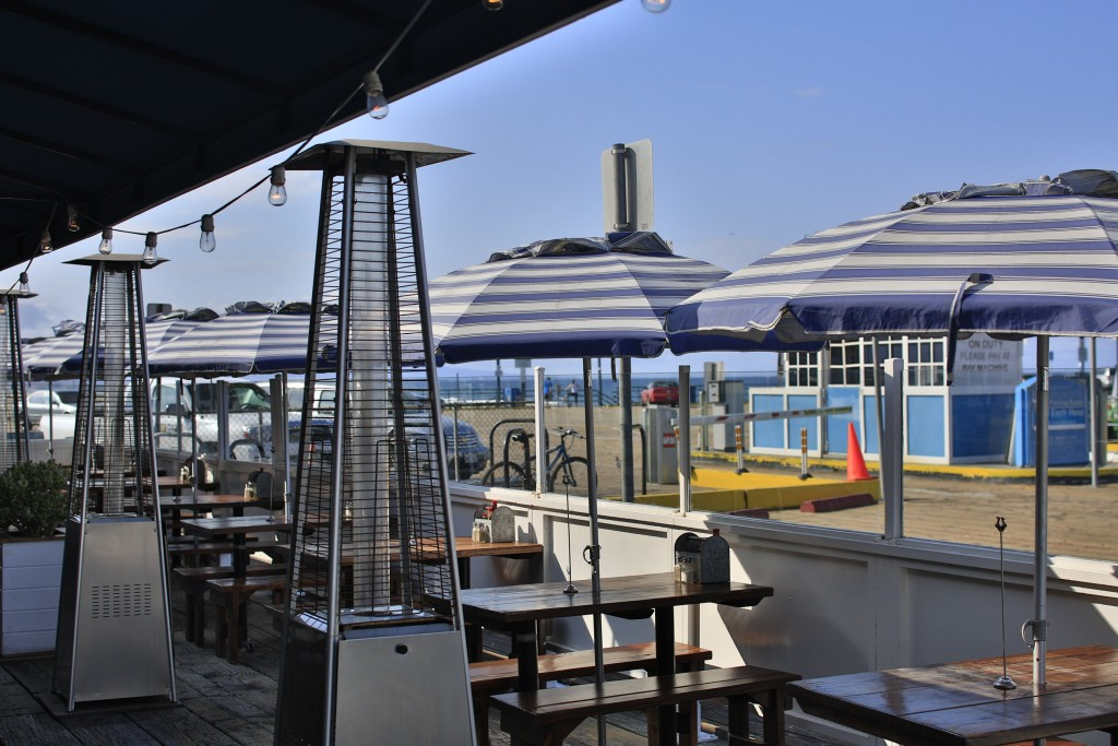 Patio on the pier and ocean view. Photo credit: The Albright